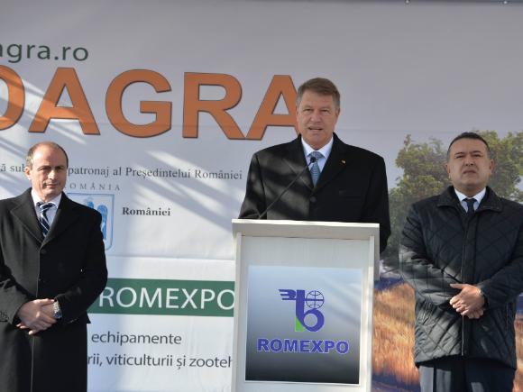 Președintele Klaus Iohannis a deschis târgul Indagra 2016