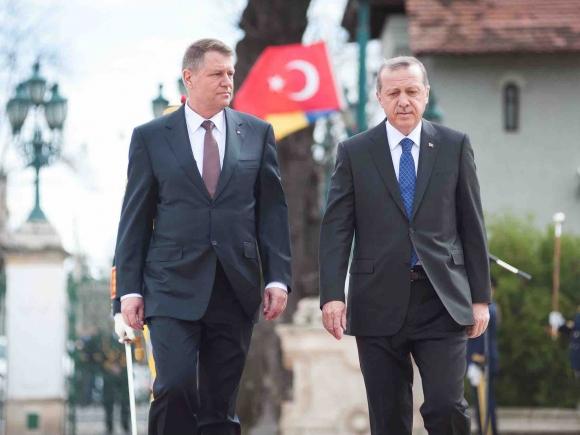 Preşedintele Turciei, primit la Palatul Cotroceni de preşedintele Iohannis