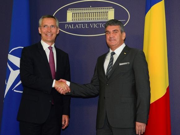 Secretarul general al NATO s-a întâlnit cu premierul interimar Oprea