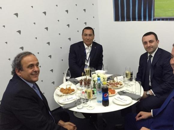 Ponta: I-am mulțumit lui Platini pentru sprijinul în organizarea meciurilor de la CE 2020